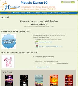 Accueil du site web