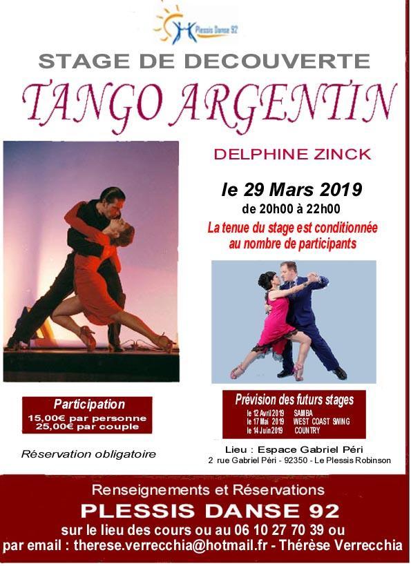 Flyer tango argentin